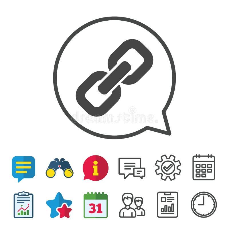 Chain symbol för Hyperlink Hyperlinksymbol royaltyfri illustrationer