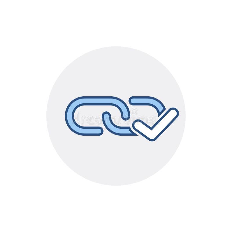 Chain symbol för sammanlänkning för rengöringsduk för sammanlänkning för internet för hyperlink för kontrollfläck royaltyfri illustrationer