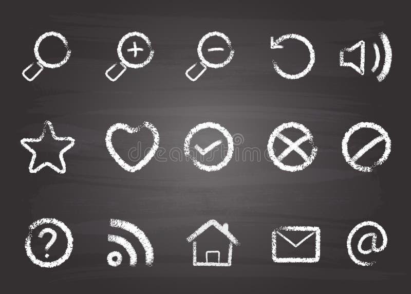 chain symbolslåsrengöringsduk royaltyfri illustrationer