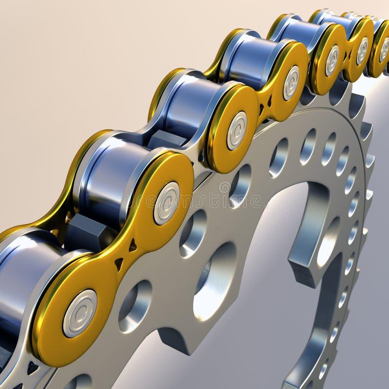 chain tandhjul stock illustrationer