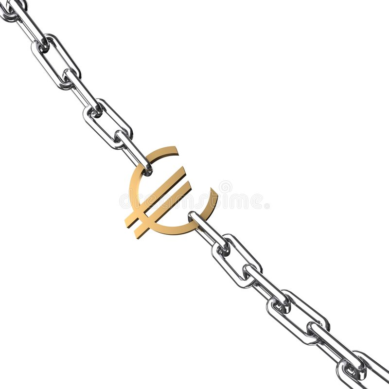 Chain tecken för kromeuroguld