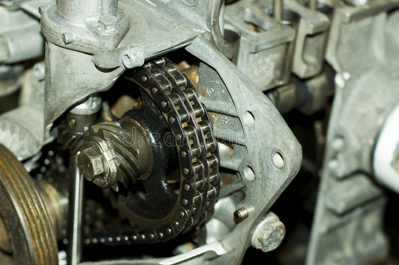 Chain transmission stock images