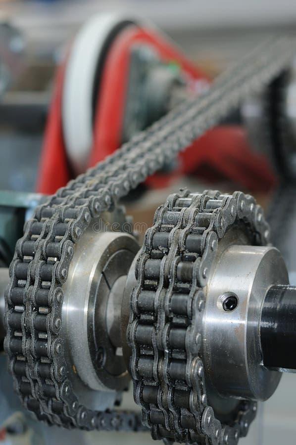 Chain transmission stock image