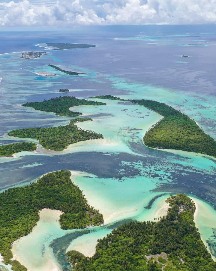 Chain of uninhabited islands royalty free stock photos