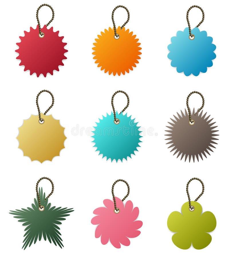 chain vektor för key etikett royaltyfri illustrationer