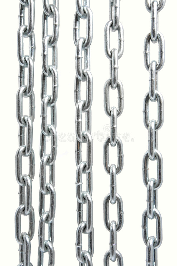 Chain on white. Chain isolated on the white background royalty free stock photography