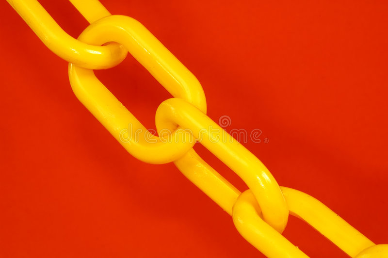 chain yellow arkivbild