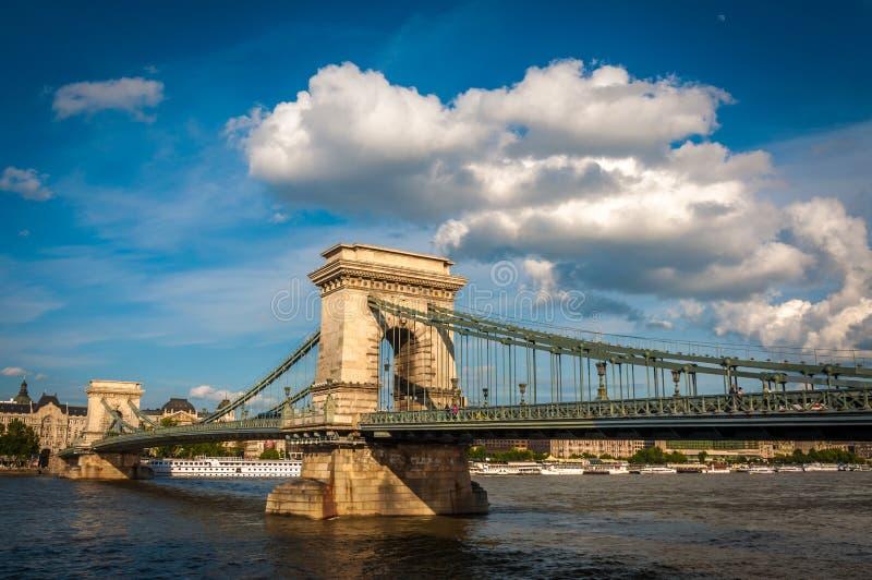 Chainbridge, Budapest Węgry obrazy royalty free