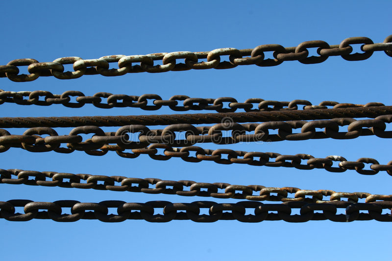 Download Chained stock image. Image of iron, industry, yacht, machinery - 636045