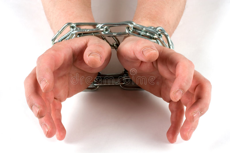 Chained royalty free stock image