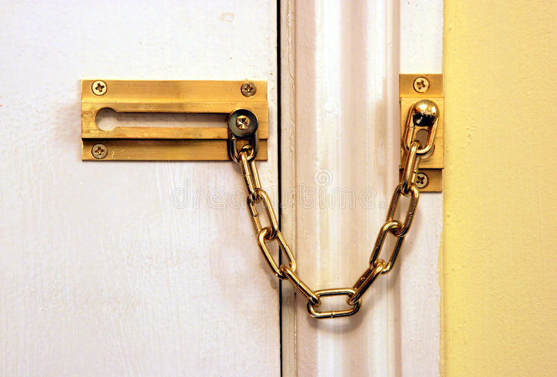 Chained door royalty free stock photography