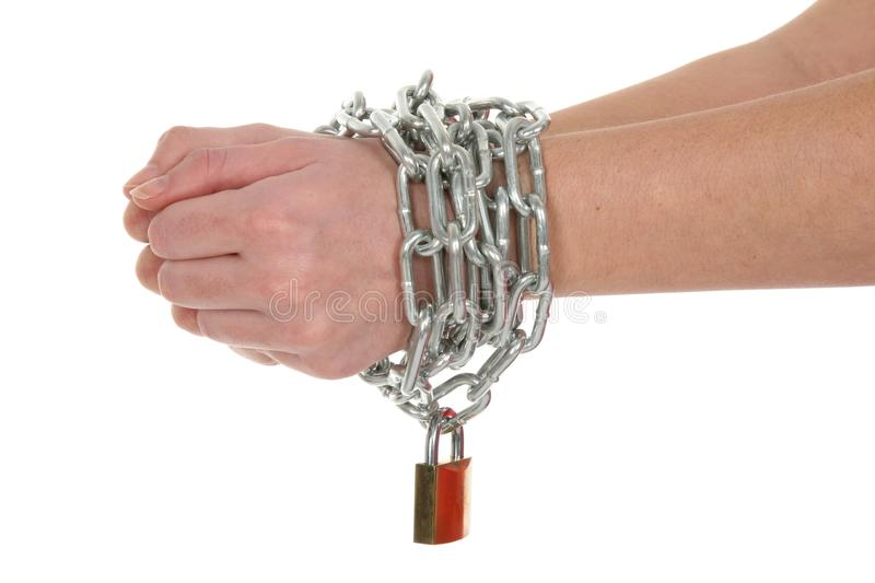 Chained Hands stock photo