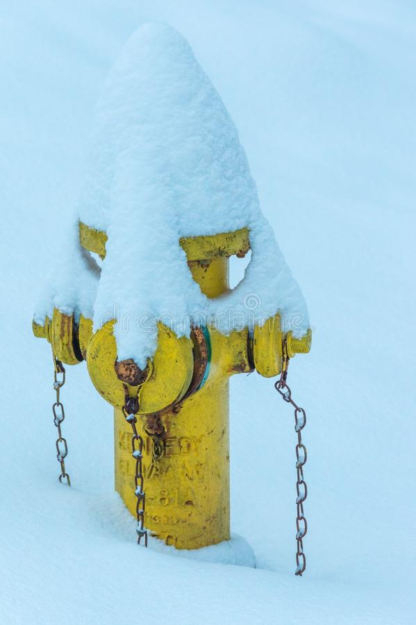 Chained in snow stock photography