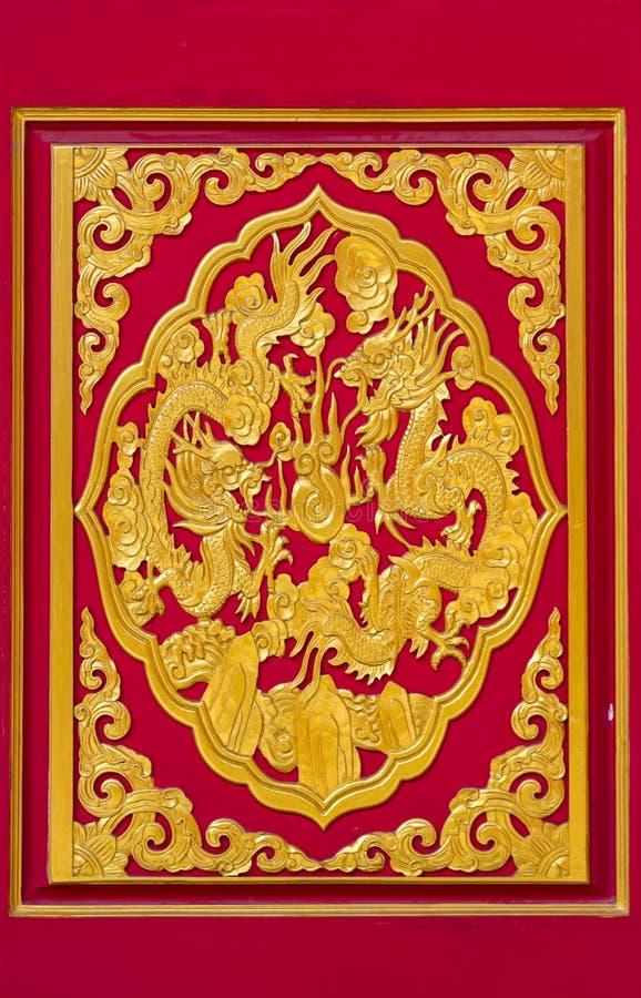 Chainese dörr på den Leng Noei Yi 2 templet arkivbilder