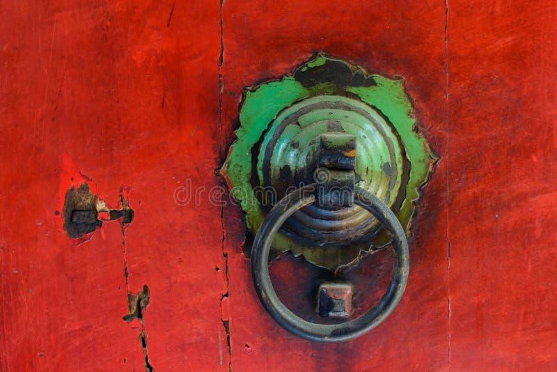 Chainese dörrhandtag arkivfoto