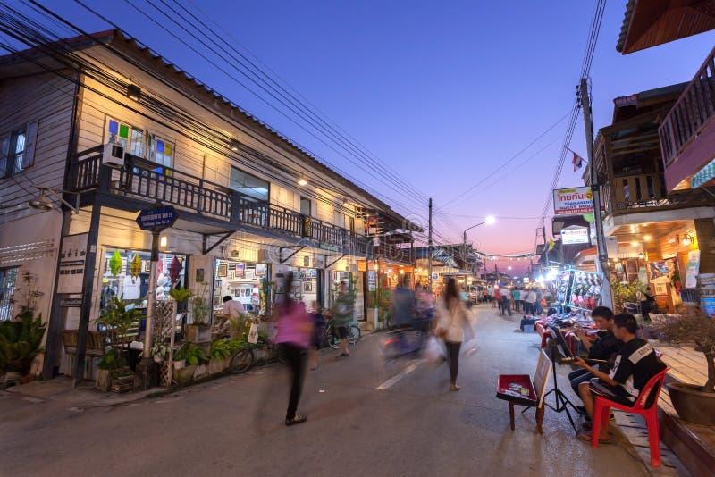 Chaing Khan, Loei, Tajlandia zdjęcie stock