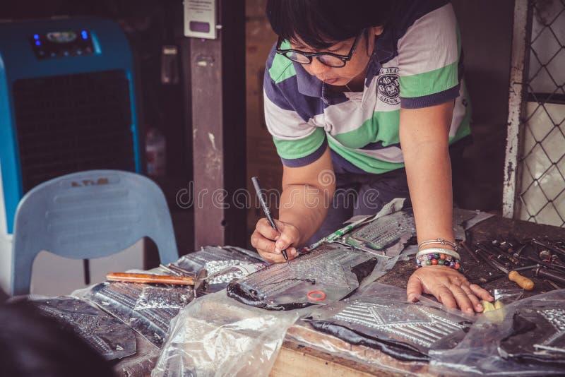 Chaing Mais arbetare för silver royaltyfri bild
