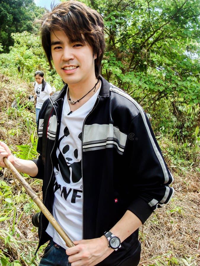 CHAINGMAI, THAILAND - JUNE 28, 2008. brand ambassador WWF Kawee. Tanjararak singer Superstar on JUNE 28, 2008 stock images