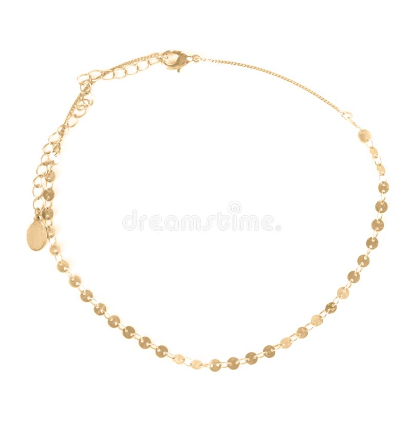 Chainlet dorato elegante isolato immagini stock