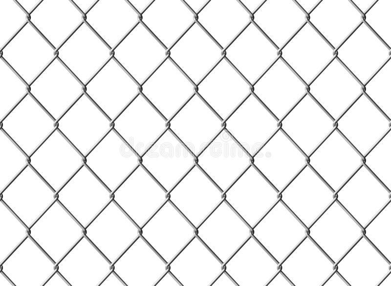 Chainlink fence. Isolated Chainlink fence. Seamless texture. Computer generated image royalty free illustration