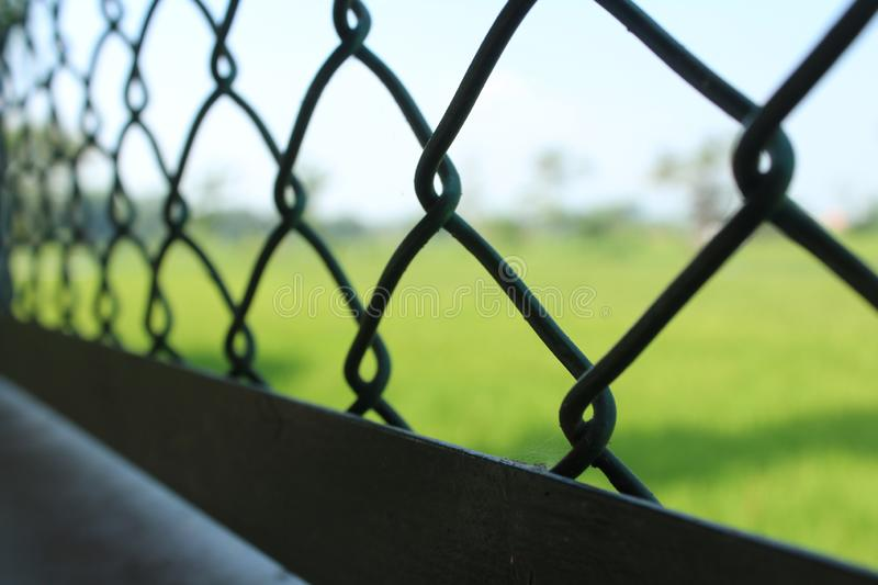 Chainlink fence royalty free stock images