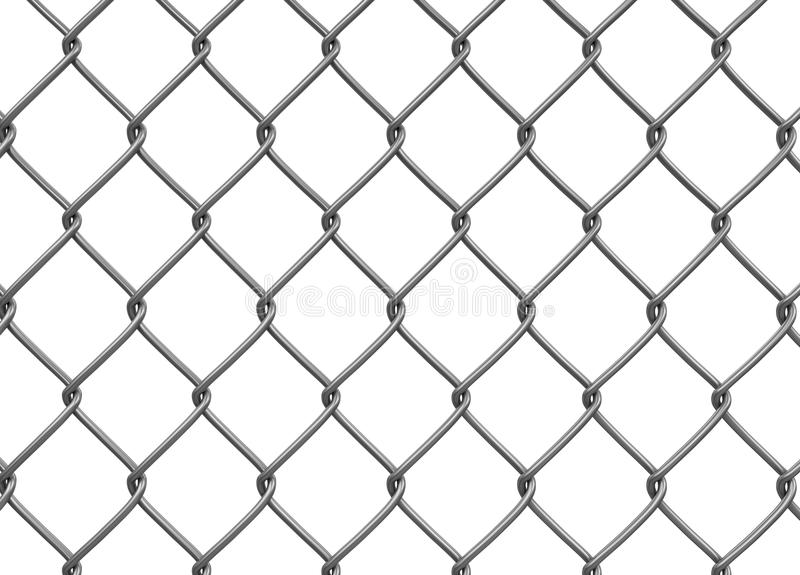 Chainlink fence. Image with clipping path royalty free illustration