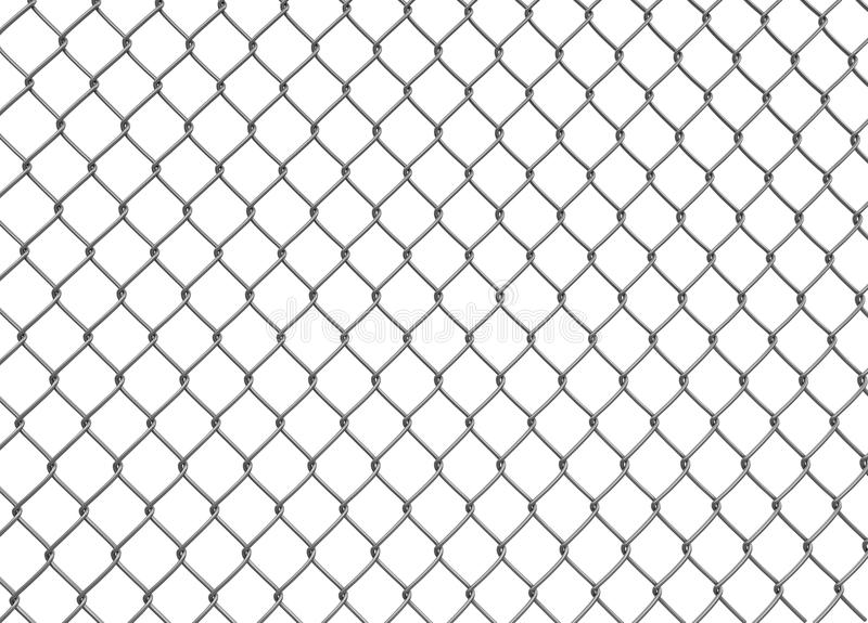 Chainlink fence. Image with clipping path stock illustration