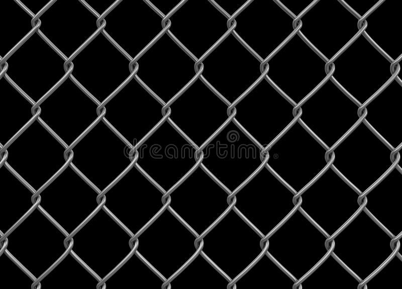 Chainlink fence. Image with clipping path vector illustration