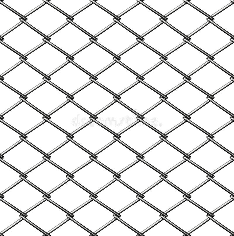 Chainlink fence seamless. On white stock illustration