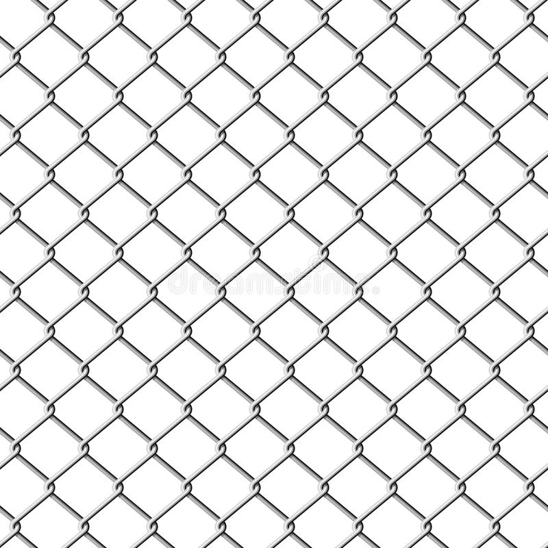 Chainlink fence. Seamless illustration. royalty free illustration