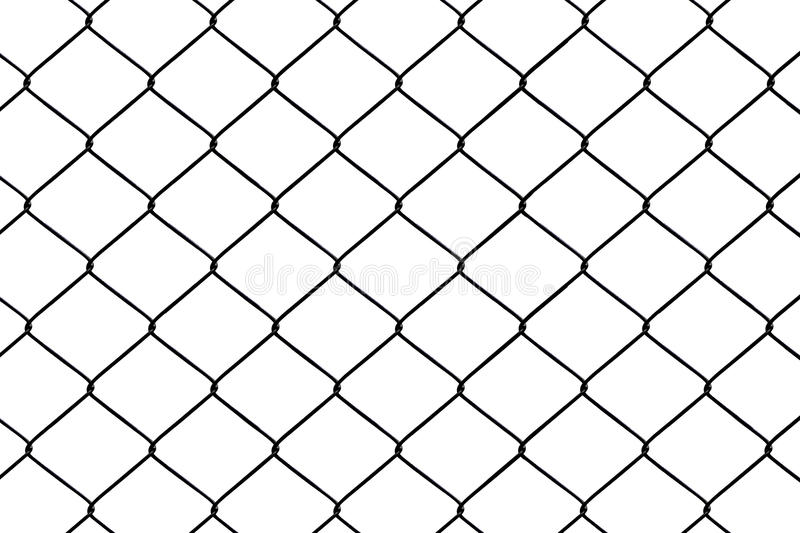 Chainlink fence. Seamless on a White background vector illustration