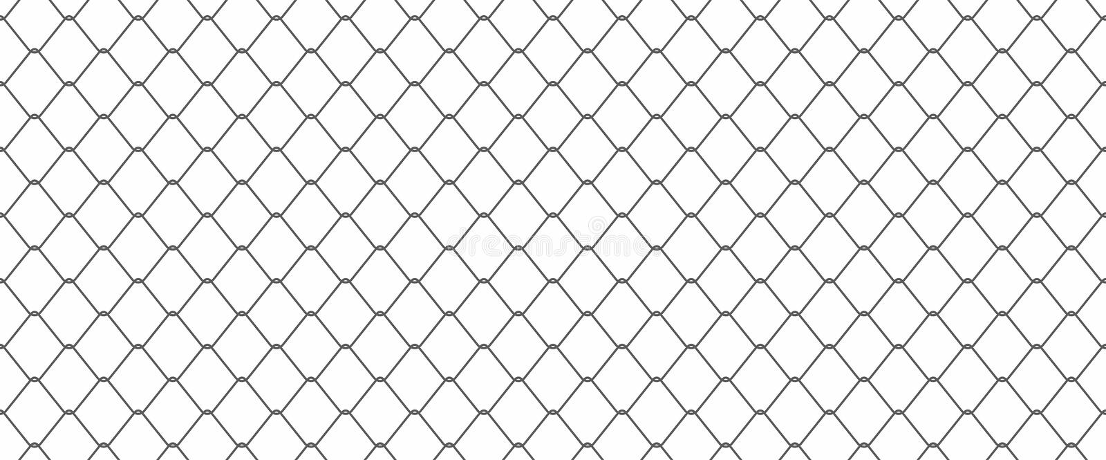 Chainlink fence royalty free illustration