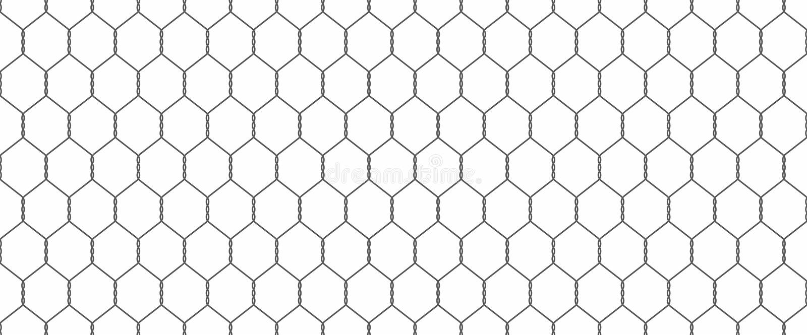 Chainlink fence. Silhouette of metal wire mesh, seamless pattern vector illustration