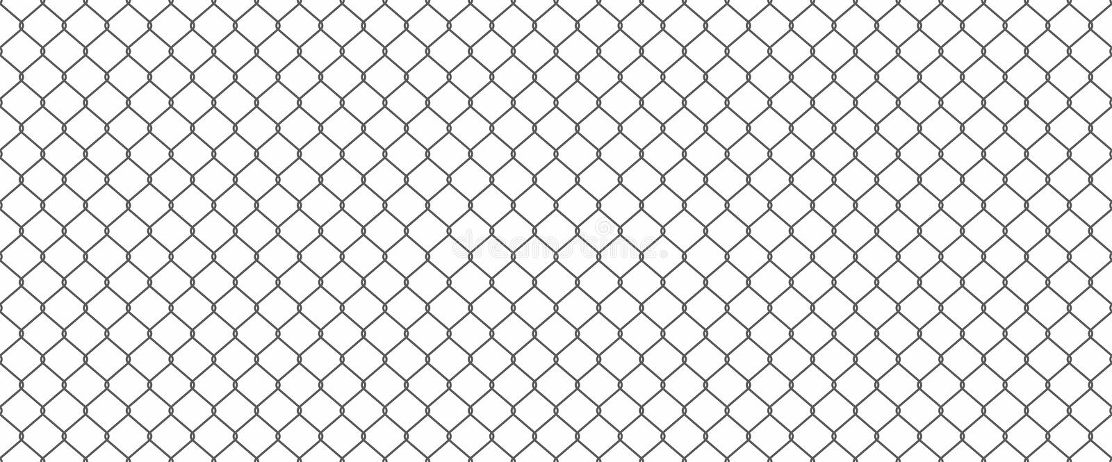 Chainlink fence. Silhouette of metal wire mesh, seamless pattern royalty free illustration