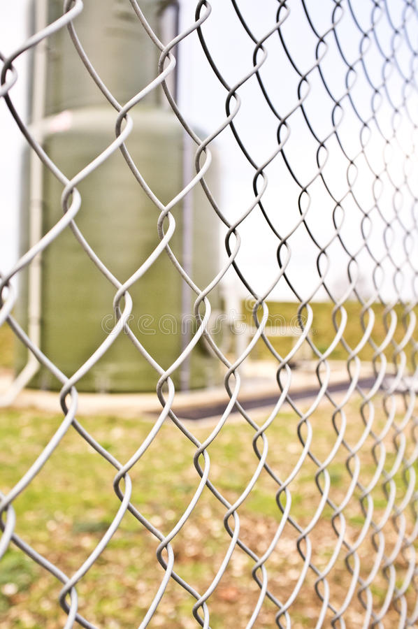 Free Chainlink Fencing On An Industrial Site Stock Photo - 23368520