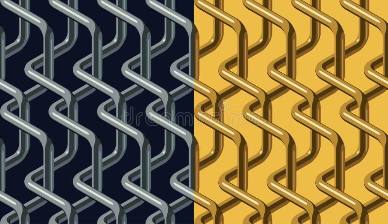 Chainlink pattern stock illustration