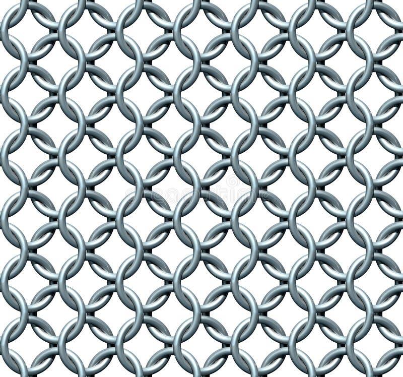 Chainmail bezszwowa Tekstura ilustracja wektor
