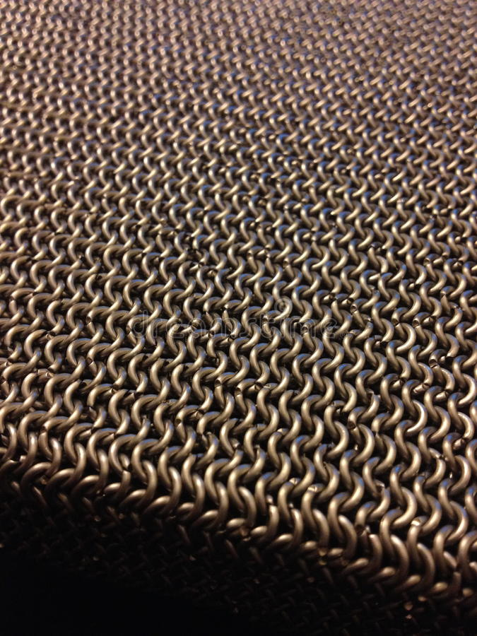 Chainmail spinnt stockfoto