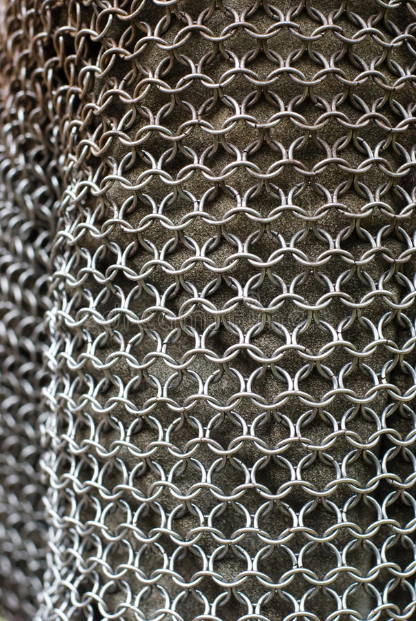 Chain mail armour structure stock photo