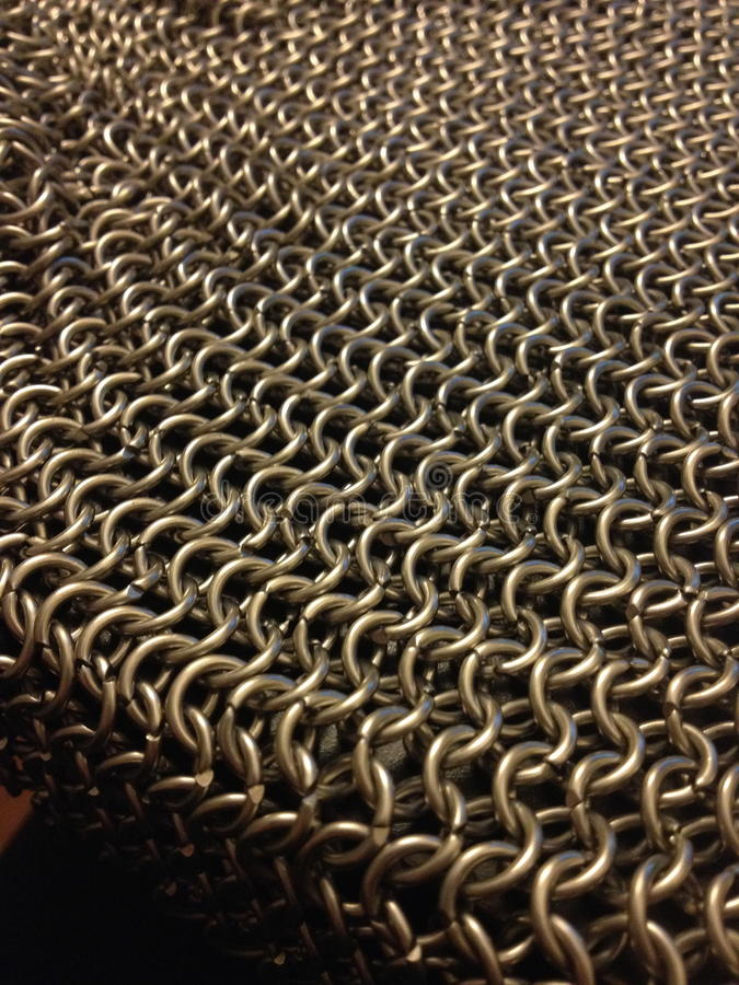 Chainmailgolven royalty-vrije stock foto