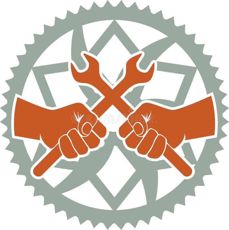 Chainring naprawy odznaka ilustracji