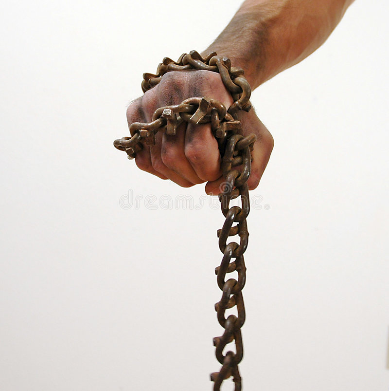Download Chains stock photo. Image of rusty, survival, rebel, hand - 4478