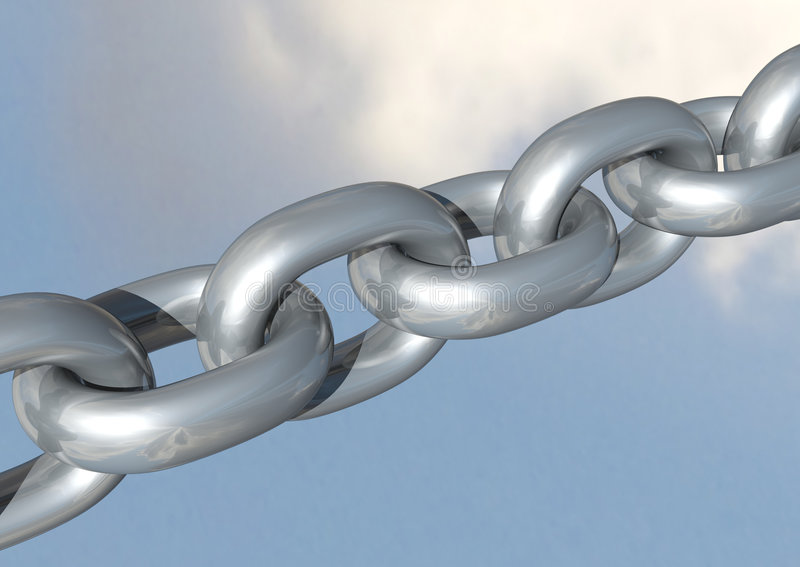 Download Chains stock photo. Image of connected, render, chrome - 4489820