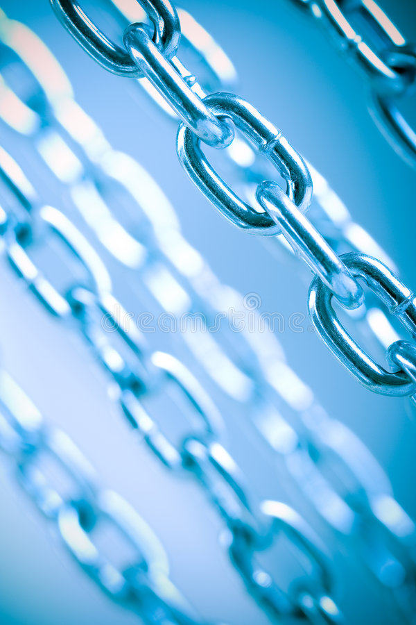 Download Chains blue background stock image. Image of metallic - 8214749