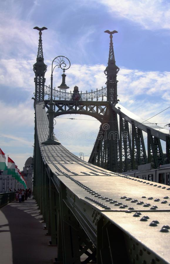The Chains Bridge in Budapest royalty free stock photo