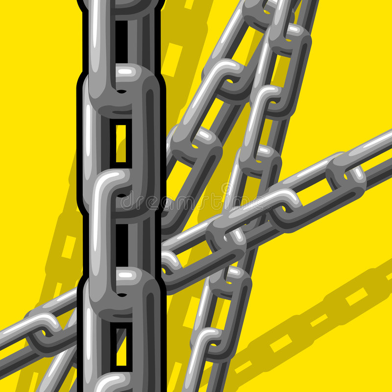 Chains (illustration) Stock Images