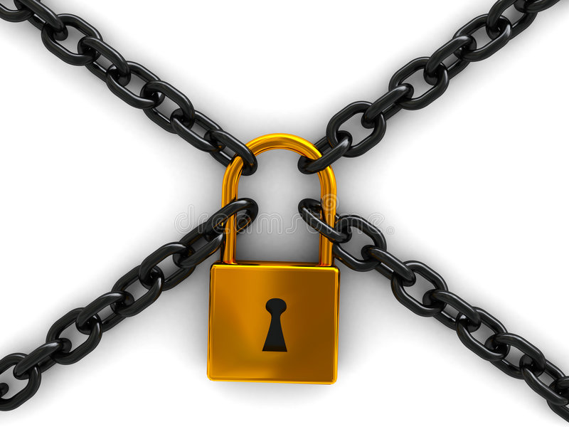 Chains and lock stock illustration