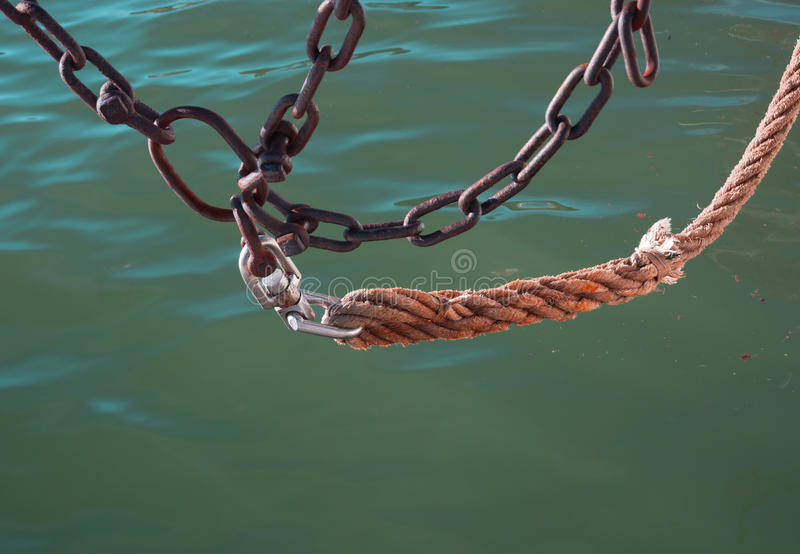 Chains and rope stock photography