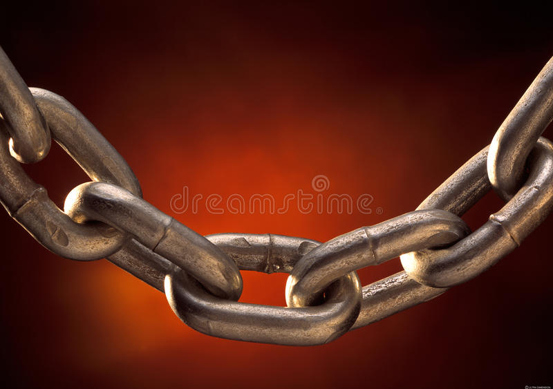Chains. Solid metal steel slavery chains stock photos
