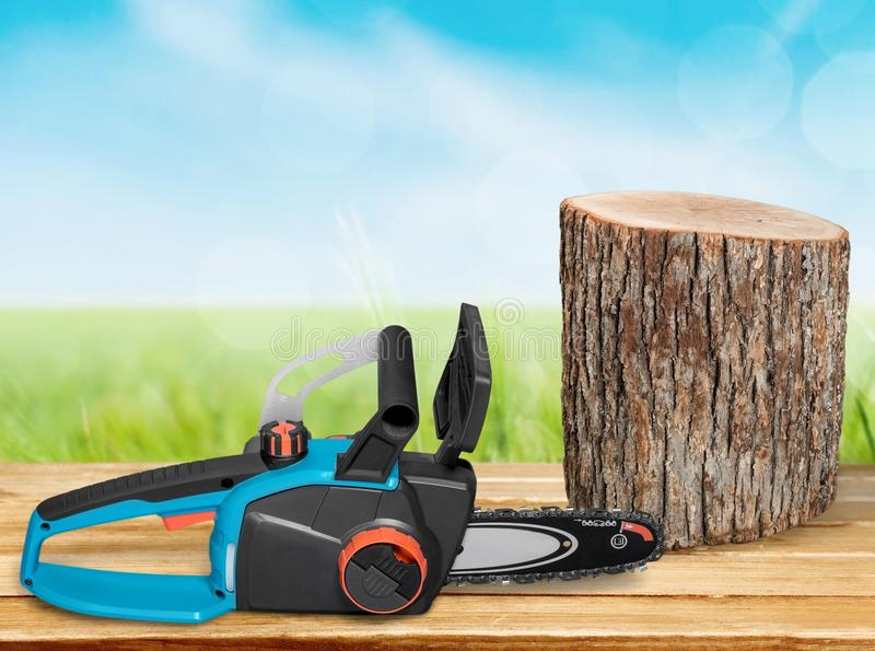 chainsaw fotografia stock